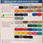 Bảng mã màu alu TAC