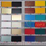 Bảng màu alu triều chen nội thất PE