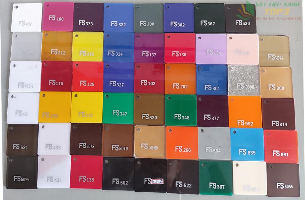 bảng màu mica đài loan fs