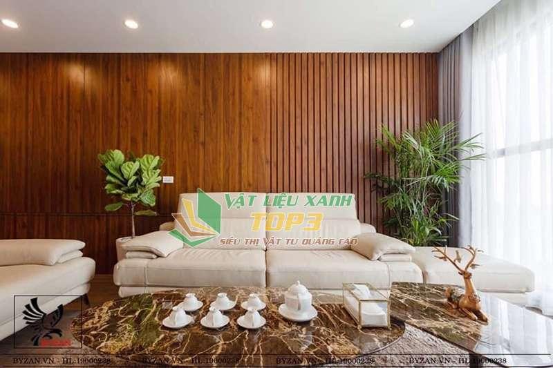 Sử dụng ốp tường trong không gian rộng như phòng khách, sảnh, khách sạn, siêu thị, nhà hàng