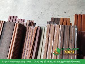 gỗ nhựa ốp phòng khách