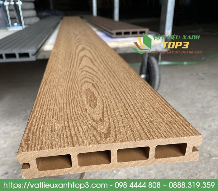 sàn nhựa giả gỗ ngoài trời lỗ vuông