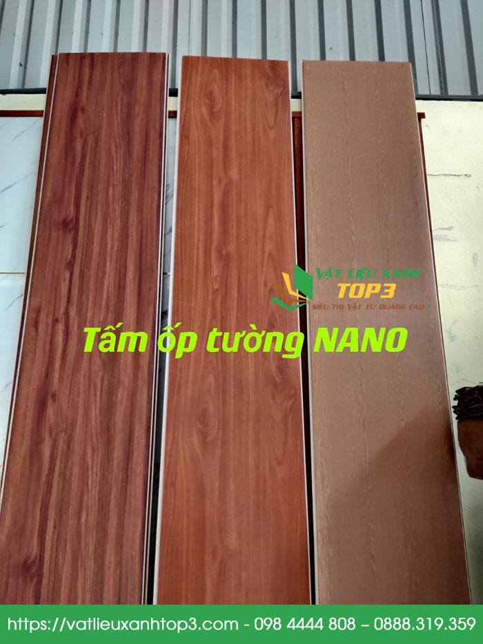 tấm nhựa ốp tường giả gỗ